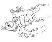 monstre marin dessin à colorier