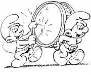 schtroumpf musicien dessin à colorier