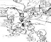tous les schtroumpfs dessin à colorier