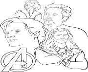 Coloriage Avengers to Print Free