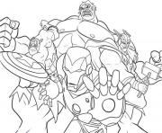 Coloriage Colouring pages avengers 2