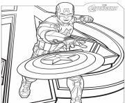 captain america avengers dessin à colorier
