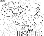 Coloriage iron man from the avengers marvel