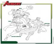 Coloriage avengers team