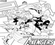 heroes the avengers dessin à colorier