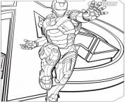 Coloriage iron man avengers