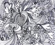 saint valentin coeur adulte difficile dessin à colorier