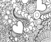 saint valentin coeur adulte difficile 2016 dessin à colorier