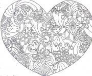 Coloriage joyeuse st valentin par des lapins carte de voeux dessin