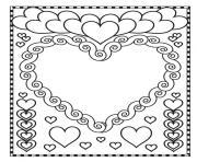 Coloriage licorne avec des coeurs dessin