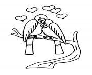 Coloriage cupidon sur un coeur dessin