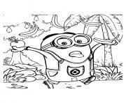 dessin la chasse aux bananes minions dessin à colorier