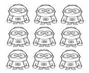 dessin neuf minions dessin à colorier