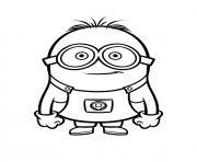 dessin jeune minion lunette dessin à colorier