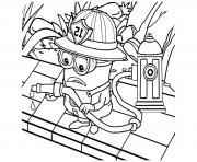 dessin minion le pompier dessin à colorier