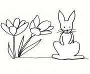 paques lapin nain dessin à colorier