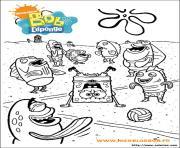 dessin bob leponge 5 dessin à colorier