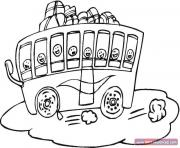 Coloriage dessin bus enfant 47