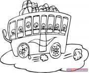Coloriage dessin bus enfant 1 dessin