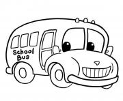 Coloriage dessin bus enfant 5