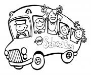 Coloriage dessin bus enfant 6