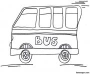 Coloriage dessin bus enfant 7