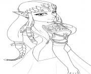 Coloriage Zelda 1986 Links Awakening dessin