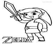 Coloriage Zelda à Imprimer Dessin Sur Coloriageinfo