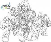dessin skylanders 11 dessin à colorier