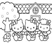 Coloriage hello kitty sirene dessin