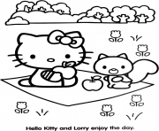 Coloriage dessin hello kitty 80