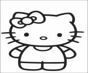Coloriage hello kitty plage dessin