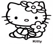 Coloriage dessin hello kitty 89