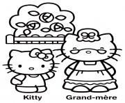 dessin hello kitty 238 dessin à colorier