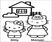 Coloriage hello kitty en princesse dessin