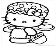 Coloriage mandala hello kitty dessin