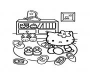 Coloriage dessin hello kitty 126