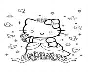 Coloriage dessin hello kitty 2 dessin