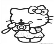 dessin hello kitty 8 dessin à colorier