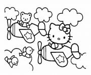 dessin hello kitty 230 dessin à colorier