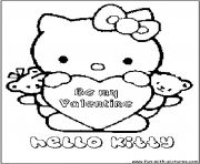 Coloriage dessin hello kitty 92