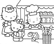 dessin hello kitty 7 dessin à colorier