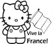 Coloriage hello kitty facile dessin