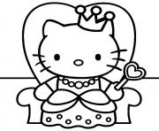 dessin hello kitty 17 dessin à colorier