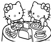 Coloriage tv hello kitty dessin