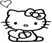 Coloriage hello kitty et mimi dessin