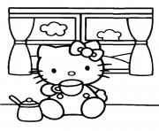 Coloriage dessin hello kitty 93