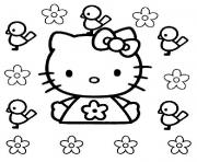 dessin hello kitty 285 dessin à colorier