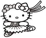 dessin hello kitty 3 dessin à colorier