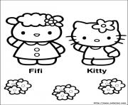 Coloriage hello kitty punk dessin